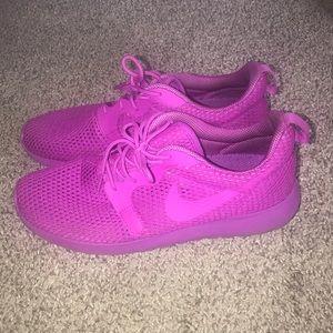 Purple Flyknit Nikes